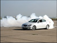 IS350 with smoke trail